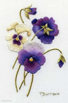 This is my favorite flower it reminds me of my girls ~ love purple pansies
