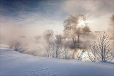Foggy morning, Moscow region, Pehorka river - photographed by the amazingly talented Sergey Rumyantsev