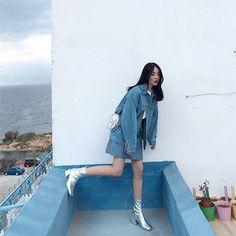˗ˏˋ ♡ @ e t h e r e a l _ ˎˊ˗ Korean Street Fashion, Korea Fashion, Asian Fashion, 90s Fashion, Daily Fashion, Womens Fashion, Ulzzang Fashion, Ulzzang Girl, Pretty Outfits