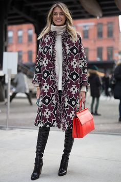 Helena Bordon is seen attending Tory Burch during New York Fshion Week wearing Tory Burch on February 14 2017 in New York City #StreetStyle