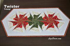 #patchwork #twister #triangl #tutorial #vzory #šablony #pravítka