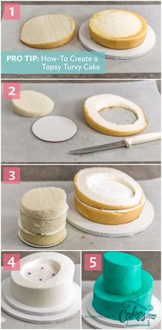 Simple instructions for making a topsy-turvy cake (with photos!) #cakedecorating #topsyturvy