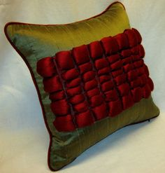 Silk Decorative Pillow Cover with 3D effect insert in by LenkArt