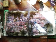 Subterranean #artjournal #visualjournal #art #studio