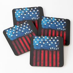 Cold Drinks, Coaster Set, My Arts, Flag, Vibrant, It Is Finished, Art Prints, Printed, Awesome