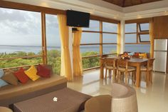 Imagine a luxury living room area overlooking the wonderful blue Bali gulf. Only at #Bali Villa Blue Rose