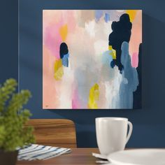 'Happy Thoughts' Painting Print on Wrapped Canvas