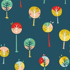 Happy Town Organic EI-22 Happy Trees by Birch Fabrics