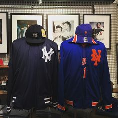 or  Who's your favorite New York baseball team? Our NYC location seems to be spilt between customers. Two respectable franchises with so much history it's hard to pick one. Either way you are going to look like a real fan in either of these @mitchellness jackets. Top it off with a @americanneedle Yankee Statesman hat and a @47brand Mets Clean Up! . . #baseball #mlb #yankee #mets #sport #warmup #jacket #truefan #nyc #westvillage #nycsports #americanneedle #mn #mitchellandness #47brand #season…