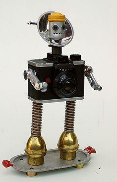 ansco camera head robot by Lockwasher, via Flickr