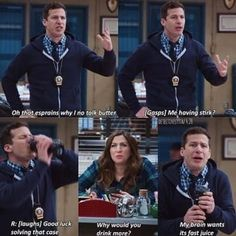 """27 """"Brooklyn Nine-Nine"""" Moments Guaranteed To Make You Laugh,The Effective Pictures We Offer … - funny photo hilarious Funny Photos Of People, Funny People, Funny Images, Crazy People, Brooklyn 99 Actors, Watch Brooklyn Nine Nine, Rookie Blue, Funny Fails, Funny Jokes"""