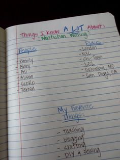 Ideas for Writers Notebook.  This would be a fun writing workshop for kids.