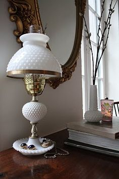 I still have my milk glass lamp that was in my bedroom when I was a kid it must be 50 years old or older now
