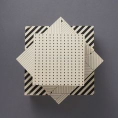 Set of 3 Geometric Boxes - Trouva
