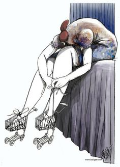 A LITTLE TOUCH OF SURREALISM - Cuban cartoonist Angel Boligan creates contemporary provoking cartoons with a touch of sadness and surrealism