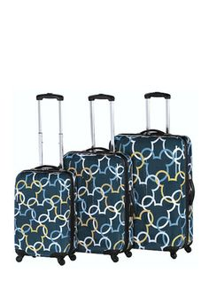 I want this SOOOO BAD. 3 Piece Heys Luggage  Mickey Signature Pattern Set
