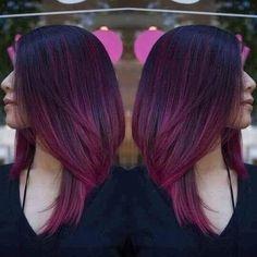 Plum hair don't care #plumhair #purplehair #hautechaucolatte #fallfashion #fallhaircolor