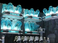 Built for the Star Wars Olympics at Imperium der Steine.  I had to build something of my choice from the Expanded Universe. This scene shows the cloning facility in the Mount Tantiss on Wayland, known from the Thrawn Trilogy. I tried to combine the style from Kamino with imperial grey and black.