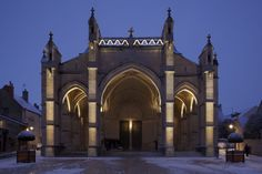 Church of Beaune in Burgundy, France. Architectural design and lighting: Jean-François Touchard - Lighting products: iGuzzini illuminazione - Photographed by Didier Boy de la Tour. #iGuzzini #Light #Lighting