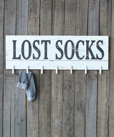 Another great find on #zulily! 'Lost Socks' Wall Plaque #zulilyfinds