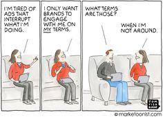 Engagement Marketing cartoon
