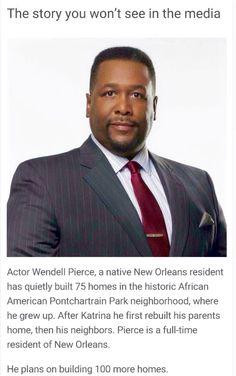 "A Man That's ""Walkin' The Walk"" ...... Bravo Wendell Pierce #PayItForward"