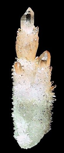 """Cactus"" cluster of Quartz var. Citrine crystals pinned with Bazaart"