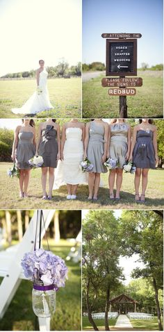 Like the mix matched bridesmaid's dresses