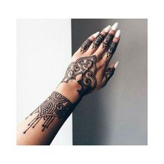 40 Delicate Henna Tattoo Designs ❤ liked on Polyvore featuring accessories and body art
