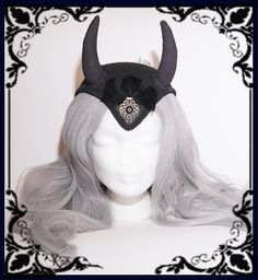 """Hörner-Fascinator """"Devil"""" (Gothic, Teufel, Kostüm) von Black Unicorn auf DaWanda.com"""