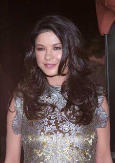 Catherine Zeta Jones long layered hairstyle