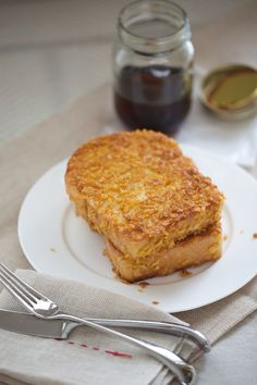 Crispy French Toast.  I had something like this at a fancy hotel in Austin.  AMAZING.