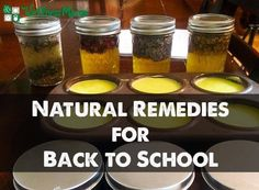 Natural Remedies for Back to School