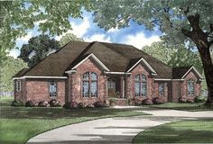 This is a house plan created for the ages with the fine detailing of the master bedroom in this lavish home. The elaborate master suite presents an entire...
