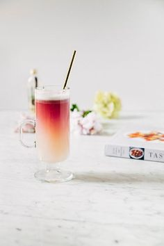 red wine gin sour (a.a The Gin Corner's Cinquieme Arrondissement) ~ Tasting Rome by Katie Parla and Kristina Gill via hummingbird high Gin Drink Recipes, Gin Cocktail Recipes, Sour Cocktail, Cocktail Drinks, Summer Drinks, Fun Drinks, Best Gin Cocktails, Cocktails To Try, White Cocktails
