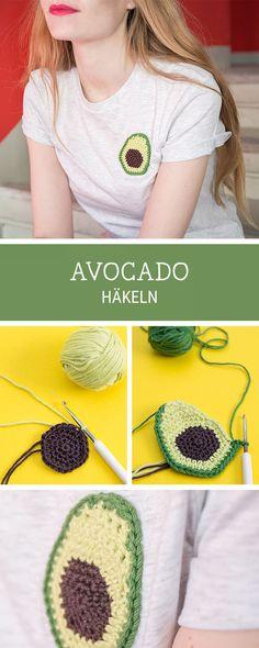 Häkelanleitung für eine Avocado, einfache Häkelideen / easy crochet tutorial: how to crochet an avocado via DaWanda.com
