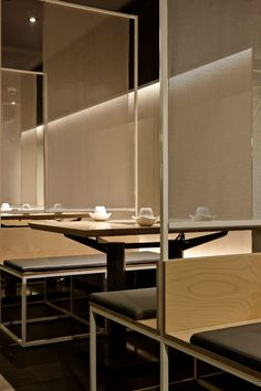 Home Decorators Collection Vanity Best Interior Design Websites, Retail Interior Design, Interior Design Singapore, Restaurant Interior Design, Interior And Exterior, Japanese Restaurant Interior, Divider Design, Restaurant Seating, Booth Seating