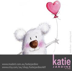 koala love - koala illustration - love