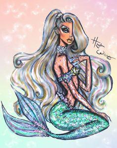 Hayden Williams Fashion Illustrations | 'Underwater Glam' by Hayden Williams