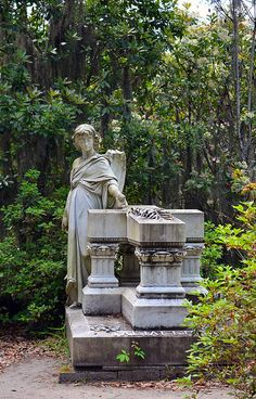 Bonaventure Cemetery Savannah Georgia Savannah Georgia, Savannah Chat, Bonaventure Cemetery, The Grim, Grim Reaper, Garden Sculpture, Angels, Explore, Outdoor Decor
