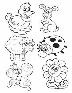 Simple Animal Coloring Pages Print Coloring page Pages Size