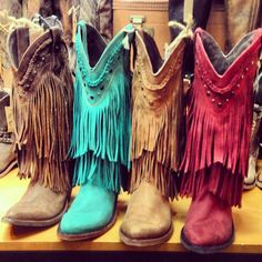 Liberty Black Fringe Cowboy Boots