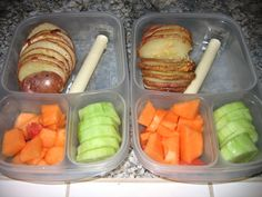 "In our lunch boxes: These red potato fans were a HIT in my house! I got the recipe from Amy, who writes the fabulous <a href=""http://blog.superhealthykids.com/2011/05/turn-your-kids-into-red-potato-fans"">Super Healthy Kids</a>. This recipe is a keeper!"