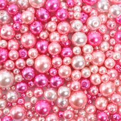 High Quality Pearl Mix Pink Glass -Pack of 100g
