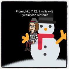 @jklsinfonia'lla on niin kiva #lumiukko-kilpailu että pakko osallistua vaikken 7.12. maisemissa olekaan. #piilotettuaarretestaa #jyväskylässätapahtuu #jyväskylä #jjanhone