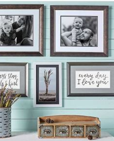 Acheive that modern farmhouse look by custom framing photos and favorite sayings at JOANN.