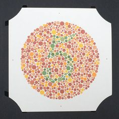 96465194662 Ishihara Colour Blindness Test plate 10 green by wafflesandsprout Color  Blindness Test