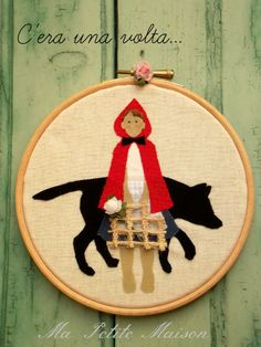 Little Red Riding Hood Embroidery Hoop  - Ma Petite Maison