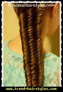 3 Strand Fishtail Braid Hairstyle - http://www.trend-hairstyles.com/hairstyle-ideas-2/3-strand-fishtail-braid-hairstyle.html