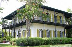 Love the simple plantation style of Hemingway's home in Key West.